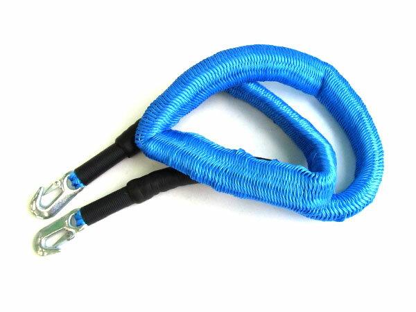 伸縮可能のびのびアンカーロープ2トン2tブルー収縮時:約25m最長:約6mジェットスキー小型ボートマ