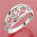 ショッピング指輪 【ポイント10倍】ダイヤリング 指輪 アンティーク調リング 17号