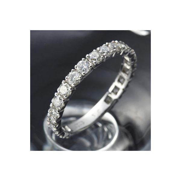 【ポイント10倍】プラチナPt900 ダイヤリング 指輪 1ctエタニティリング 20号 (鑑別書付き) 1カラットダイヤ エタニティリング