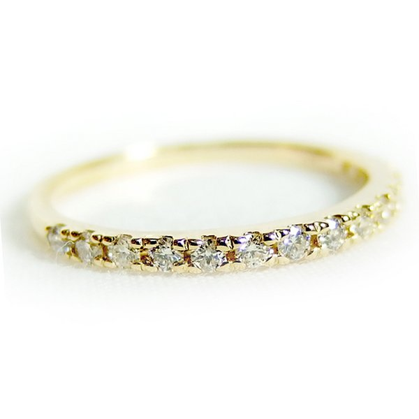 【ポイント10倍】ダイヤモンド リング ハーフエタニティ 0.2ct 12号 K18 イエローゴールド ハーフエタニティリング 指輪 18金 ダイヤモンドリング