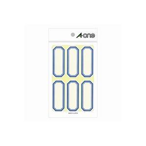 【ポイント10倍】(業務用100セット) エーワン ラベルシール/セルフ角ペーパー 【角型/小 青枠】 18シート×6面 05002 備品の名前表示・ファイルの見出しラベル等に!角型ラベル