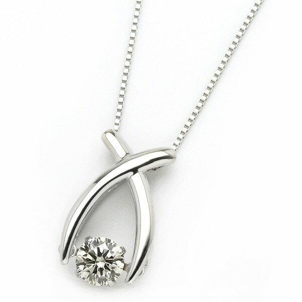 【ポイント10倍】ダイヤモンド ネックレス プラチナ Pt900 0.3ct 揺れる ダイヤ ダンシングストーン ダイヤネックレス リボン ペンダント プラチナ ダイヤネックレス ダイヤが自ら揺れることで煌きが増すダイヤペンダントあまい