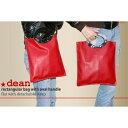 【ポイント10倍】★dean(ディーン) rectangular bag ハンドバッグ 赤