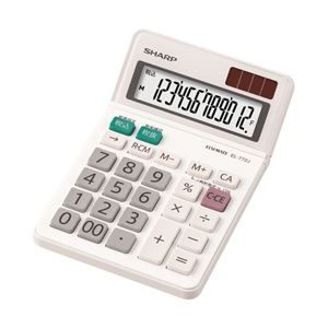 【ポイント10倍】(業務用セット) シャープ 小型電卓 1個 型番:EL-772J-X 【×3セット】