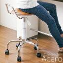 【ポイント10倍】カウンターチェア/腰掛け椅子 【ブラウン】 合成皮革/スチール 背もたれ/キャスター付き 座面昇降式/360度回転