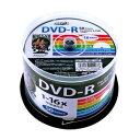 【ポイント10倍】(まとめ)HI DISC DVD-R 4.7GB 50枚スピンドル 1〜16倍速対応 ワイドプリンタブル HDDR47JNP50【×3セット】