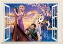 【Disney Rapunzel】ディズニー ラプンツェル ウインドタイプ ウォールステッカー