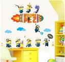 『ミニオンと仲間たち』大きいサイズ Despicable Me 2 Disney ディズニー ウォールステッカー 貼って 剥がせる 壁紙 壁シール