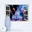 【ディズニ— プリンセス シンデレラ城 ナイトウインドタイプ】 Disney Princess Disney castles ウォールステッカー ウォール ステッカー ポスター シール 北欧 激安 貼って はがせる 壁紙 壁シール 子供部屋【CG