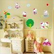 Hello Kitty ハローキティ キティと乗り物 ウォールステッカー 貼って 剥がせる 壁紙 壁シール