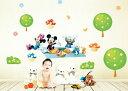 【ミッキー ミニー ドナルド ピクニック】Disney ウォールステッカー ディズニー 北欧 貼って はがせる 壁紙 壁シール ポスター シール 北欧 激安 キャラクター 子供部屋