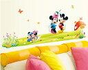 【ミッキー ミニー仲良し】Disney ディズニー ウォールステッカー ウォール ステッカー ポスター シール 北欧 激安 貼って はがせる 壁紙 壁シール 子供部屋 キャラクター 【CG】