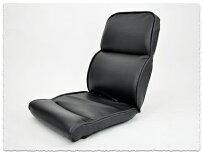 6段階リクライニング低反発ハイバック座椅子パンサー ブラック色