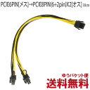 PCI-E 6PIN電源分岐ケーブルPCIE6PIN メス → PCIE8PIN (6 2pin) X2 オス 30cm cyberplugs