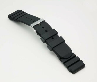 Urethane belt (thickness type) clock belt black 20mm fs3gm for clock belt clock band BG014A Bambi divers