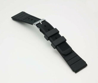 Clock belt clock band BG018A Bambi sports type urethane belt (thin) clock belt black 20mm fs3gm
