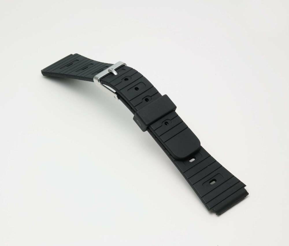 Watch watch band BG060A Bambi / sport type urethane belt (thin type): Watch belt / black 18 mm fs3gm