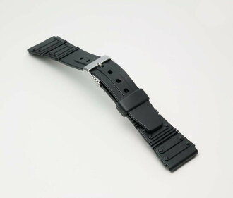 Watch watch band BG069A Bambi / sport type urethane belt (thin type): Watch belt / black 20 mm fs3gm