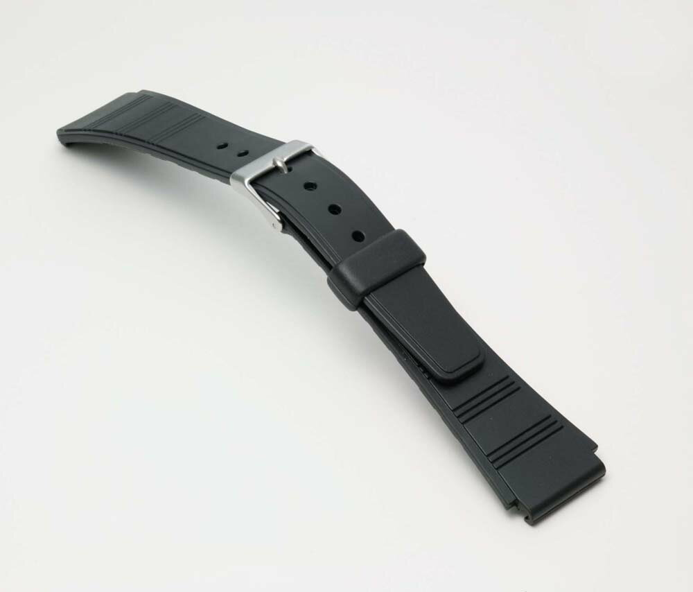 Watch watch band BG090A Bambi / sport type urethane belt (thin type): Watch belt / black 18 mm fs3gm