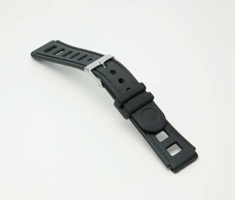 Watch watch band BG095A Bambi / sport type urethane belt (thin type): Watch belt and black 17 mm fs3gm