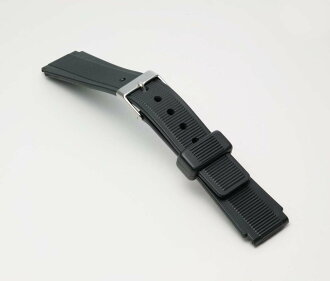Clock belt clock band BG107A sports type urethane band (thin) men's clock belt black 16mm 17mm 18mm fs3gm