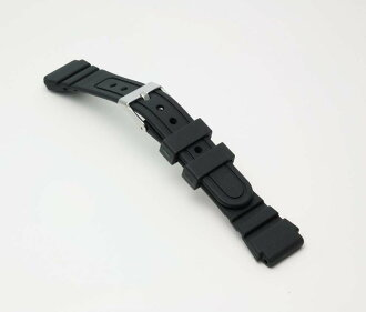 Watch watch band BG114A Bambi / sport type urethane belt (thin type): Watch belt / black 16 mm fs3gm