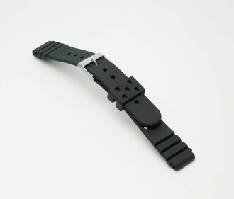 Watch watch band BG420A Bambi / sport type urethane belt (thin type): Watch belt / black 14 mm fs3gm