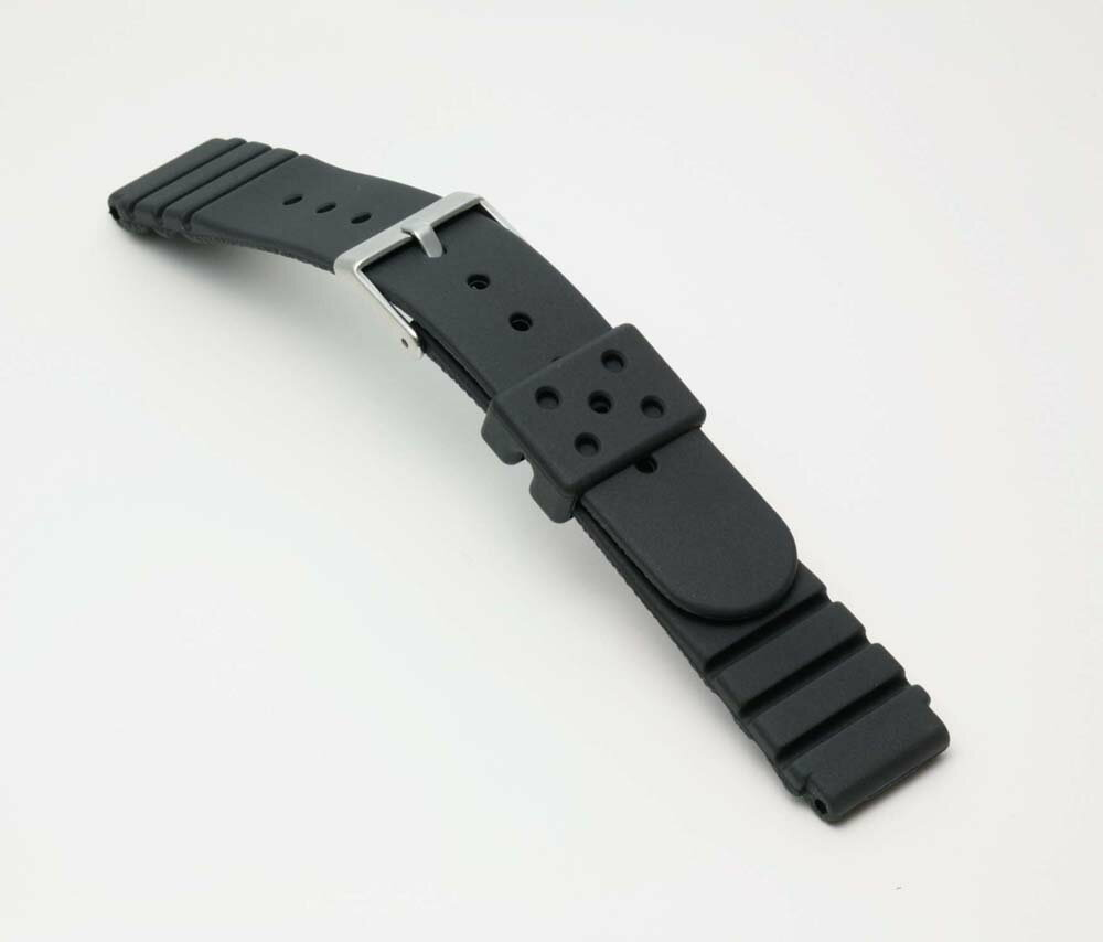 Urethane belt (thickness type) clock belt black 18mm for clock belt clock band BG422A Bambi divers