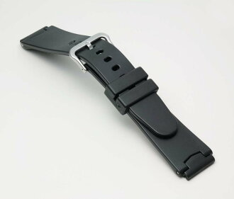 Clock belt clock band Casio (CASIO) BG700A Bambi multi-correspondence (20mm 21mm 22mm 24mm) urethane belt (wide) black fs3gm for G-Shock