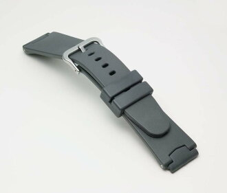Clock belt clock band Casio (CASIO) BG700G Bambi multi-correspondence (20mm 21mm 22mm 24mm) urethane belt (wide) gray fs3gm for G-Shock