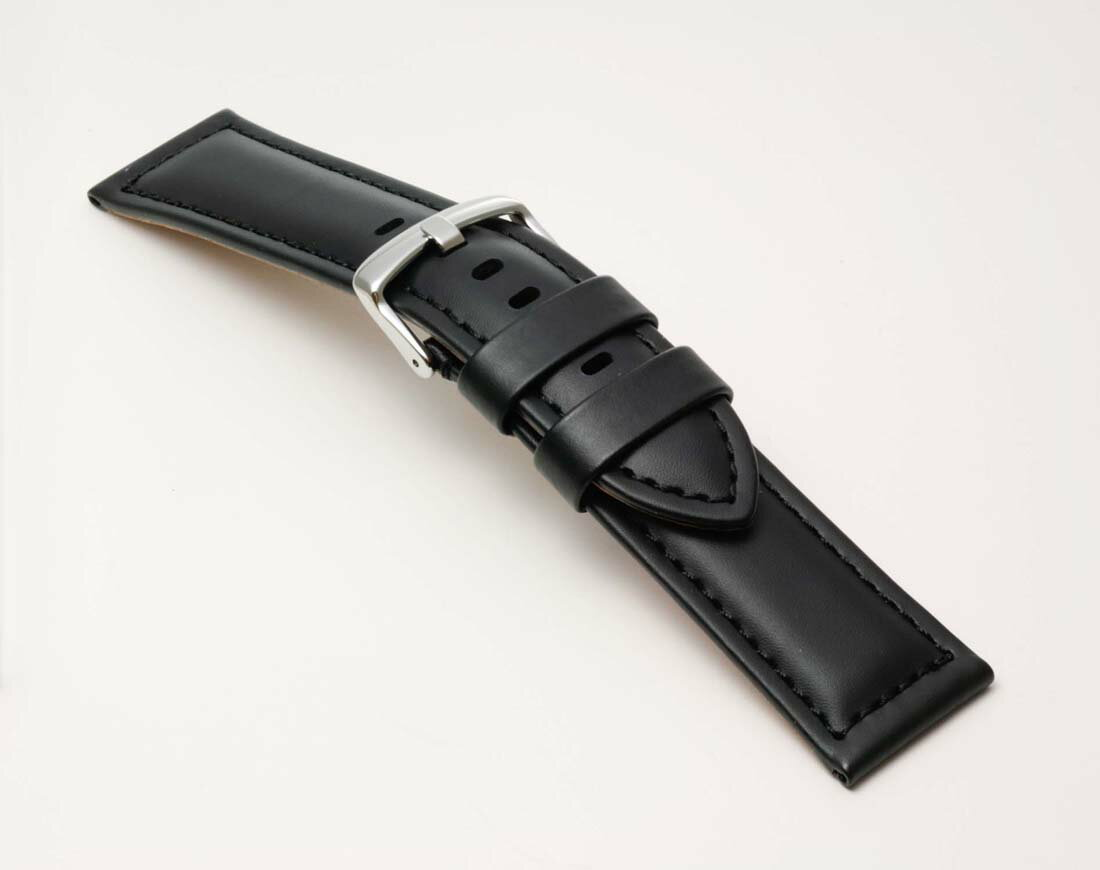 Clock belt clock band BC001A0 wide width! Clock band fs3gm for Bambi calf men clock belt 22mm 24mm black watches for パネライ