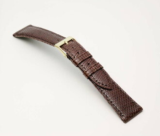 Clock band 16mm 17mm 18mm 19mm 20mm fs3gm for clock belt clock band BT0523B グレーシャス / lizard men clock belt / chocolate watches