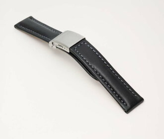 Clock band fs3gm for CS11A buckle type calf clock belt black watches