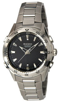 Ricoh LED lights mounted, vibration alarm, rechargeable Ricoh シュルード mens watch 660002-01 [free size]