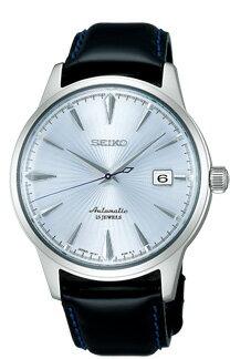 Seiko mechanical mens mechanical watch cocktail time series light blue SEIKO Mechanical SARB065
