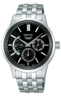 Seiko mechanical mens mechanical watch power reserve black SEIKO Mechanical SARC013 [free size]