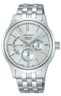 Seiko mechanical mens mechanical watch power reserve silver SEIKO Mechanical SARC015 [free size]