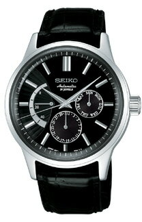 SEIKO mechanical men machine type watch power reservation black SEIKO Mechanical SARC017