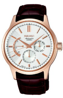 Seiko mechanical mens mechanical watch power reserve 18kt pink gold SEIKO Mechanical SARC018