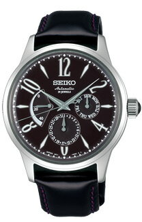 Seiko mechanical mens mechanical watch power reserve Brown SEIKO Mechanical SARC019