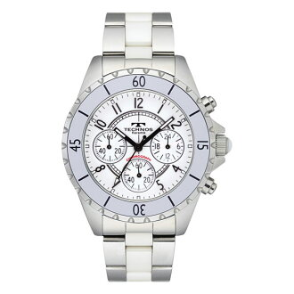 Clock / technos mens watch technos watch chronograph with watch white characters Edition T3032TW [size adjustment free: fs3gm