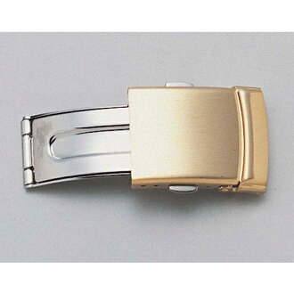 Three push-type buckling up buckle (gold) 16mm 18mm ZG02 fs3gm for clock belt clock band D buckle leather belts