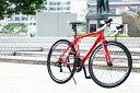 【クーポン使用で1000円オフ】 セール品 ロードバイク 自転車 CANOVER カノーバー CAR-012 ADONIS アドニス 完成品 レッド