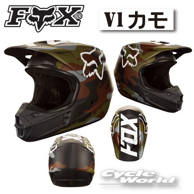 正規品FOXV1カモHELMET2017V1カモヘルメットオフロードヘルメットフルフェイスフォックス