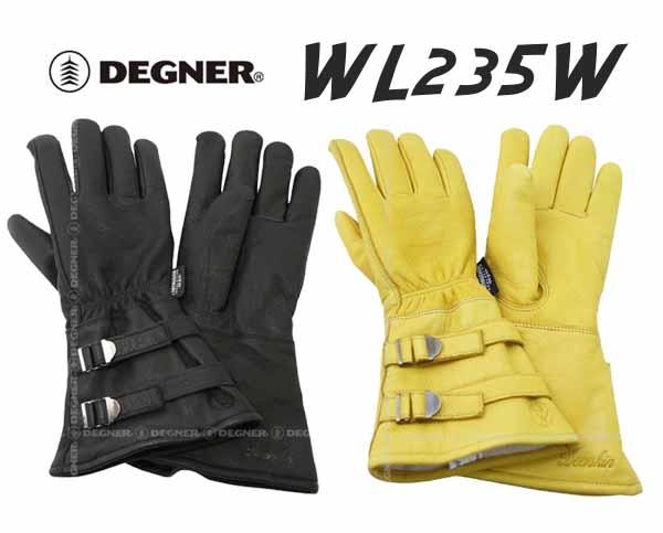 DEGNERWL235Wウィンターグローブ防寒防風透湿防水寒さ対策冬用デグナーディアスキン鹿本革アメ