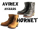 "【AVIREX】""HORNET""ライダースブーツ AV2225 ホーネット アビレックス アヴィレックス オートバイ おしゃれ かっこいい エンジニア レザーブーツ ツーリング アメリカン 革 靴 ビクトリーキス VictoryKiss【バイク用品】"