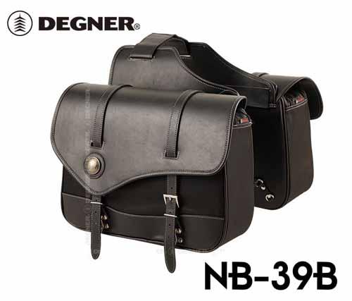 【DEGNER】NB-39B ナイロンダブルサドルバッグ サイドバッグ アメリカン デグナー【バイク用品】