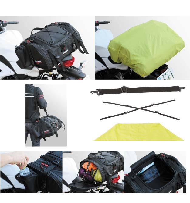 【GOLDWIN】GSM17302タンデムシートバッグ20ツーリングカバン鞄シンプル二人乗りシートバックRidingBagゴールドウィン【バイク用品】