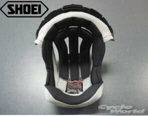 SHOEIVFX-Wセンターパッド内装VFX-W用補修部品ブイエフエックスオフロードヘルメット正規品