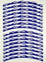 【DURABOLT】デュラボルト ホイールサークルライン WCLA13B ブルー 13インチ(12インチ可) リムストライプ ホイールステッカー【バイク用品】